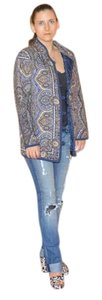 Russian Designer Quilted Blue multicolor Jacket