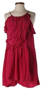 Isabel Marant Silk Ruffle Halter Dress
