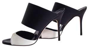 Manolo Blahnik Black-White Sandals