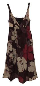Planet Gold short dress Brown, Cream, Red on Tradesy
