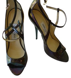 Jimmy Choo dark purple metallic Pumps