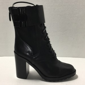 Tory Burch Elastic Goring Leather Black Boots