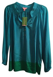 Lilly Pulitzer Summer Collection Top Cyan Blue