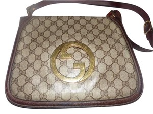 Gucci Equestrian Accents Blondie Large G Logo Print Accordion Bottom Hobo Bag