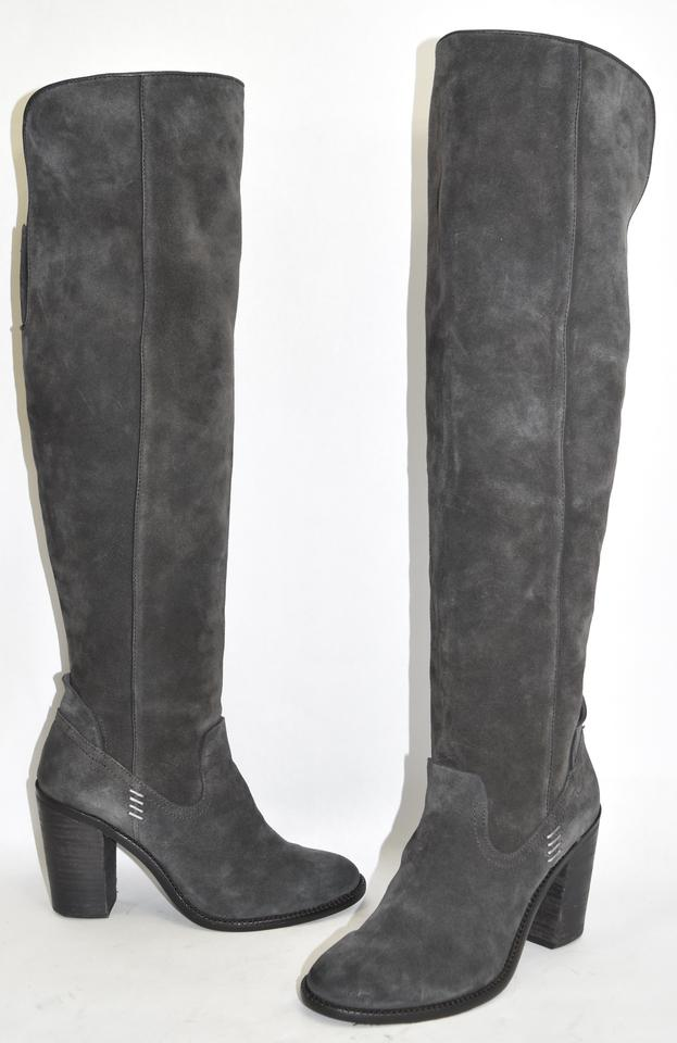 Dolce Vita $300 \'ohanna\' Over The Knee Suede Gray 8.5 Minty!! GRAY ...