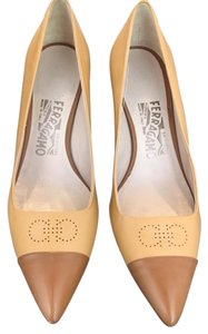Salvatore Ferragamo Never Been Worn Mustard/Brown Pumps