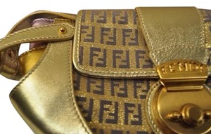 Fendi Evening Hardware Monogram Baguette