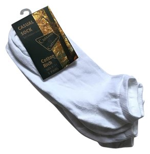 cottons & cottons White Socks size 9-11 3 pairs