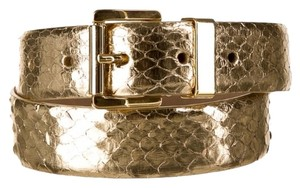 Michael Kors Gold Python Michael Kors Belt