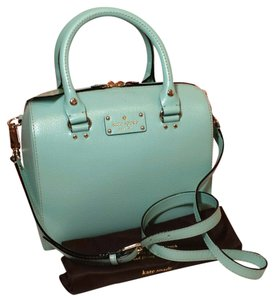 Kate Spade New Boarskin Embossed Leather Cowhide Satchel Zip Strap Cute Cross Body Bag