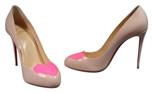 Christian Louboutin Ballerina/shocking Heart Nude & Pink Pumps