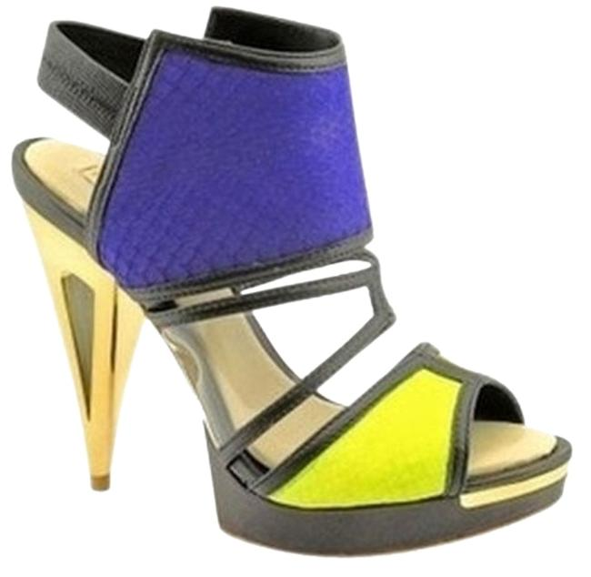Item - Blue Yellow Lime Sandals Size US 9.5 Regular (M, B)