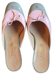 Chanel Pink and grey Mules