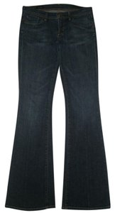Citizens of Humanity 5 Pocket Style Zip Fly Low Rise Flare Leg Jeans-Dark Rinse
