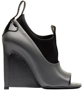 Balenciaga Open Toe Bootie Stiletto Black Boots
