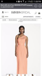 David's Bridal Bellini - Peach David's Bridal Dress