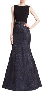 Theia Mermaid Gown Jacquard Trumpet Dress