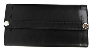 Gucci New Gucci Black Leather Charmy Clutch Continental Wallet 231839 1000