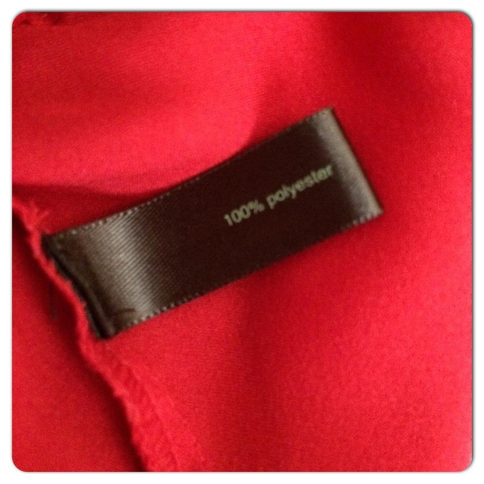 cebb8adf308 The Limited Red One Shoulder Ruffle Blouse Size 4 (S) - Tradesy