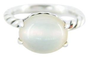 David Yurman size 6.25, sterling silver, moonstone, fashion, cabochon ring