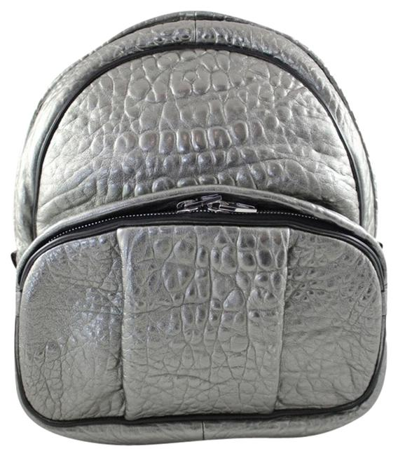 Item - Dumbo Silver Leather Backpack