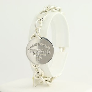 Tiffany & Co. Tiffany Co. Cable Chain Bracelet 12 - Sterling Silver Charm Tag Designer