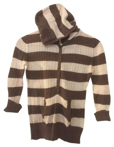 Aéropostale Hooded Lightweight Striped Kangaroo Pocket Sweater