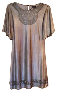 Nicole Miller Top Silver, charcoal