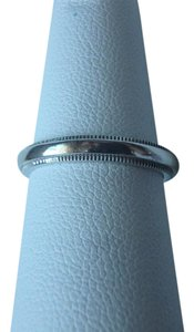 Tiffany & Co. Tiffany Co. Platinum Double Milgrain 3mm Wedding Band Ring size 5