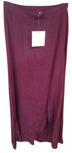 BE By Brittaney Elise Silk Formal Elegant Sophisticated Flowy Light Sexy Slit Feminine Dash Boutique Maxi Skirt Eggplant