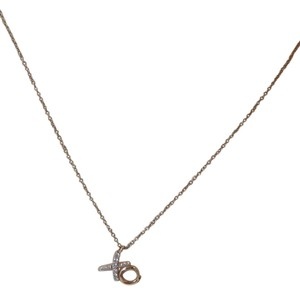 Tiffany & Co. Tiffany Co. Paloma Picasso Diamonds 18k Rose Gold Hug Kisses Pendant Necklace w/boxes