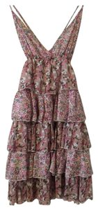 Wet Seal short dress Pinks/beiges/greens~Floral on Tradesy
