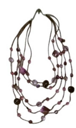 Preload https://img-static.tradesy.com/item/17752/new-york-and-company-purple-five-strand-beaded-necklace-0-0-540-540.jpg