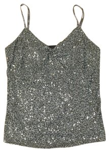 The Limited Sequin Silver Grey Top Gray