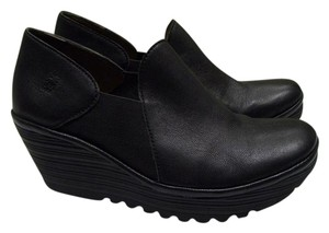 FLY London Black Wedges