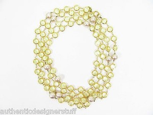 Chanel Vintage Citrine Crystal and Pearl Gold Plated 76