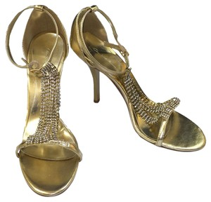 Charlotte Russe Open Toe Summerwear Casual Informal Gold Sandals