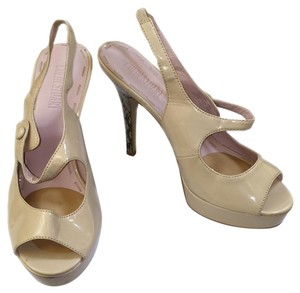 Colin Stuart Peep Toe Casual Eveningwear Informal Beige Sandals