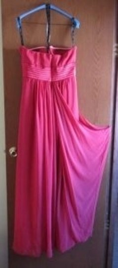 Bill Levkoff Persimmon Chiffon and Charmeuse Style 114 Feminine Bridesmaid/Mob Dress Size 10 (M)
