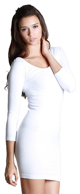 Nikibiki short dress White Seamless Scoop Neck 3/4 Sleeves on Tradesy