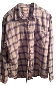 American Eagle Outfitters Collared Button Down Shirt Plaid