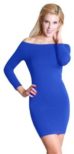 Nikibiki short dress Blue Off The Shoulder on Tradesy