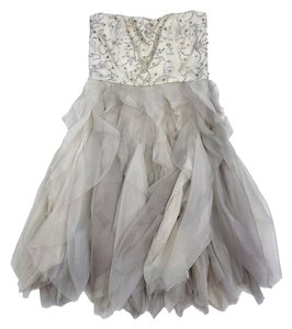 Alice + Olivia short dress Champagne Embellished Ruffle on Tradesy