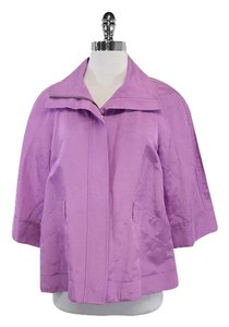 Lafayette 148 New York Violet Cropped Sleeve Jacket