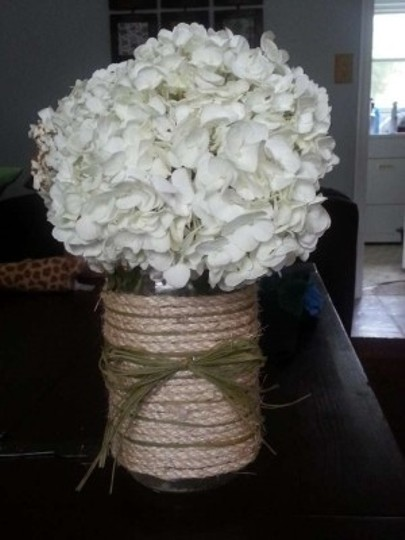 Taupe Brown Green Rustic Centerpiece