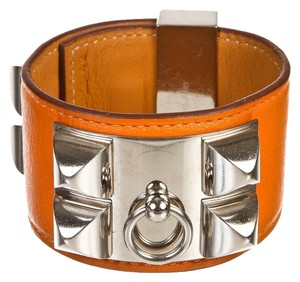 Hermes Hermes Orange Swift Leather Collier de Chien CDC Bracelet