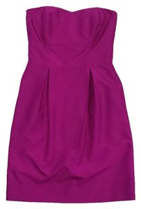 Lynn Lugo short dress Magenta Silk Strapless on Tradesy