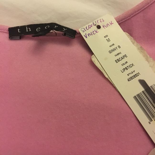 Theory V-neck Sleeveless Casual Top Pink