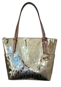 Michael Kors East West Tote in Pale Gold