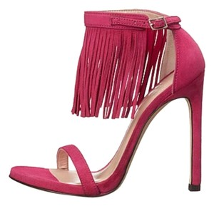 Stuart Weitzman Lovefringe Fringes Nudist Geranium/Fushia Sandals